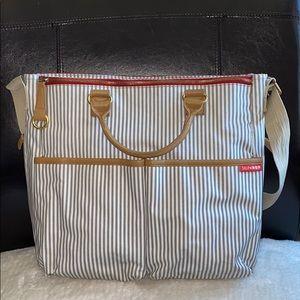 Skip Hop French Stripe Diaper Bag